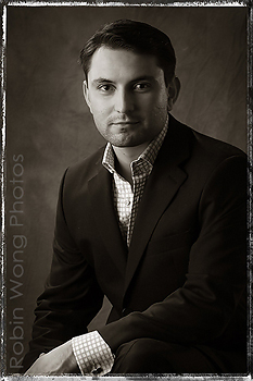 Actor photographed in emind photo studio