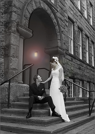 black & white wedding photography for frame