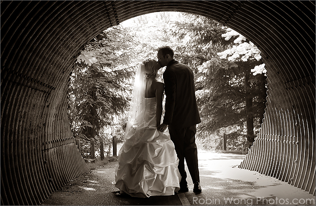 Sepia Tone wedding photograph