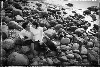 Engagement B&W photography
