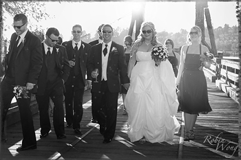 B&W wedding photography