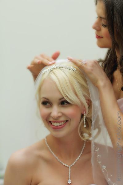 Furry Creek wedding, bride getting ready in dress room