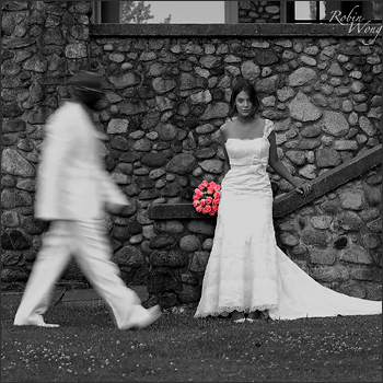 B&W wedding image