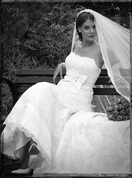 The bride in B&W