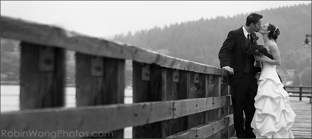 black & white wedding image photographed in Port Moody