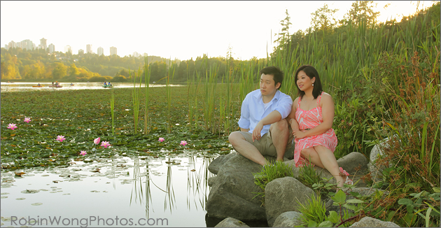 engagement photo session in Burnaby Deer Lake