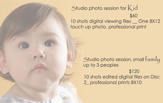 Kid's photography and family portraits